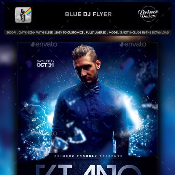Blue DJ Flyer