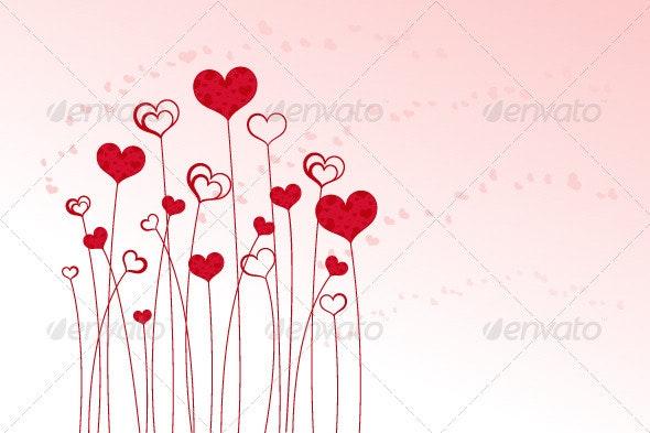 Heart Field - Decorative Vectors