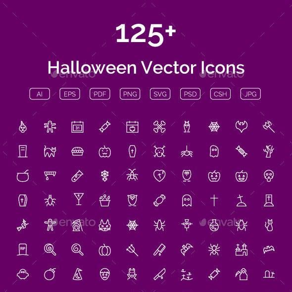 125+ Halloween Vector Icons