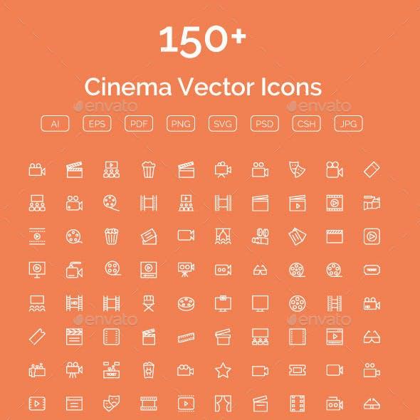 150+ Cinema Vector Icons