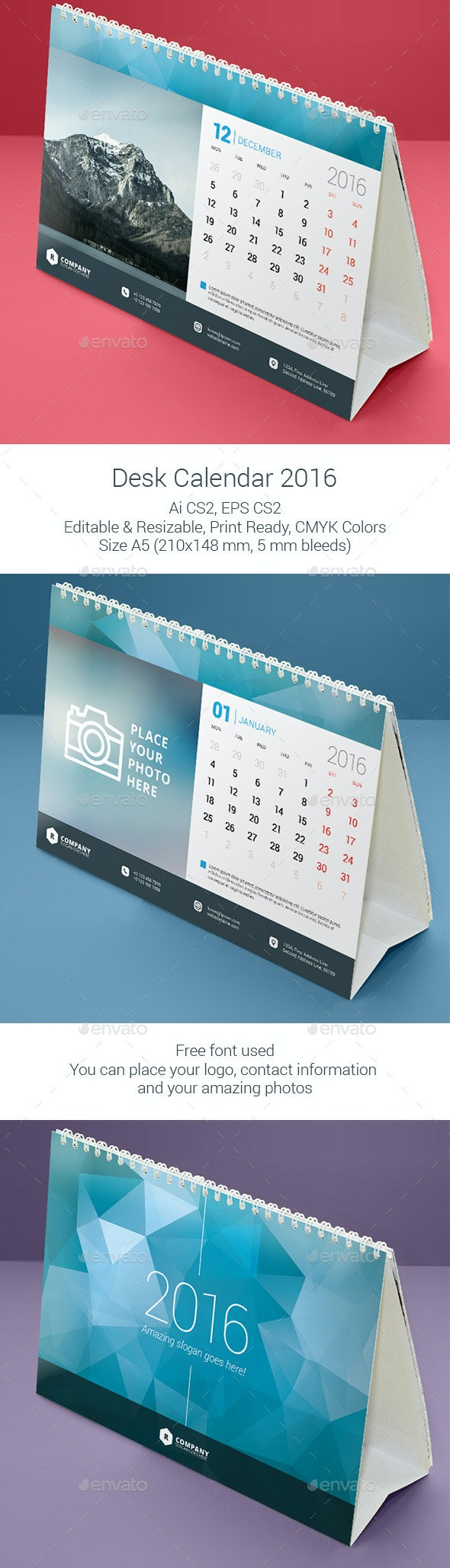 Desk Calendar 2016 - Calendars Stationery