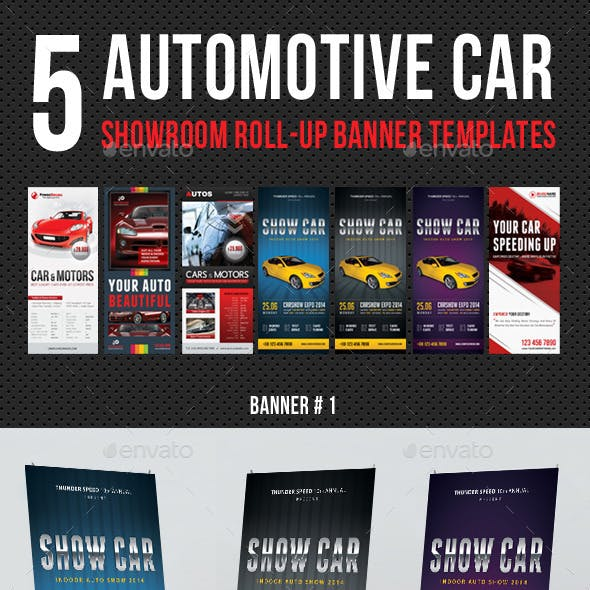5 in 1 Automotive Car Showroom Banner Bundle