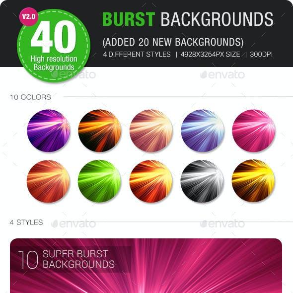 40 Burst & Sparkles Backgrounds