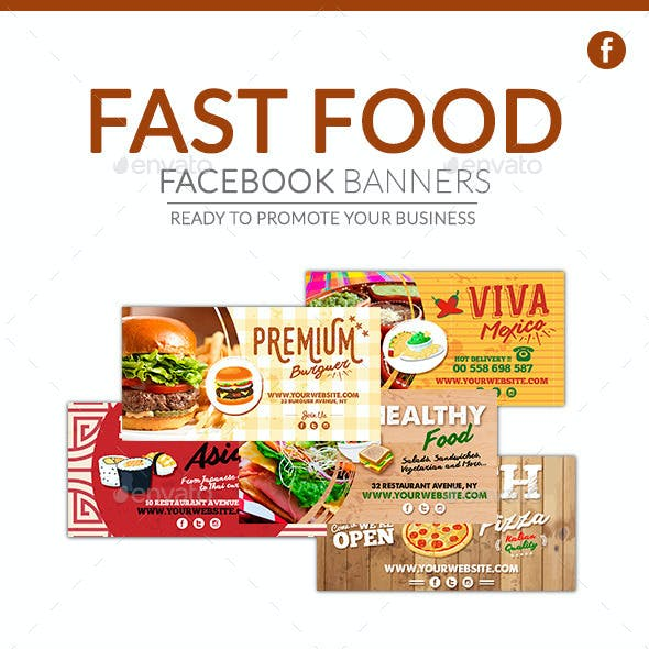 Facebook Banners - Fast Food