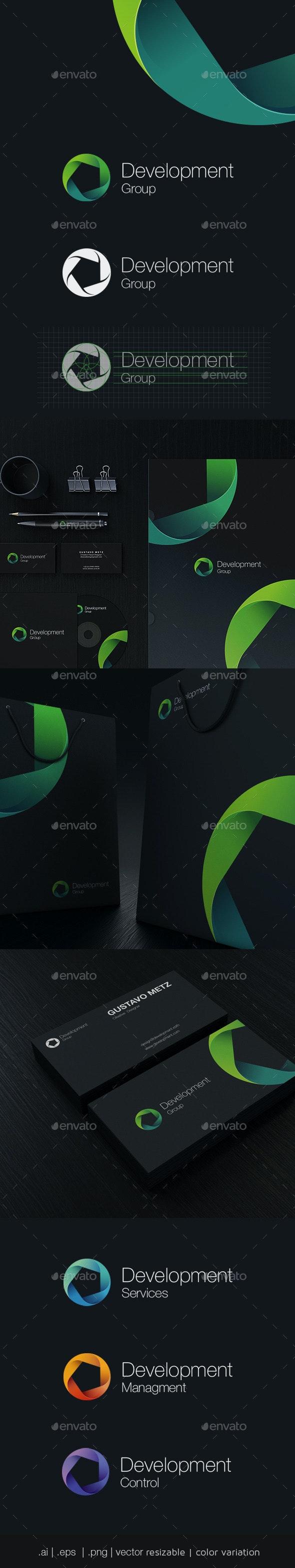 Development Group Logo Template - Vector Abstract