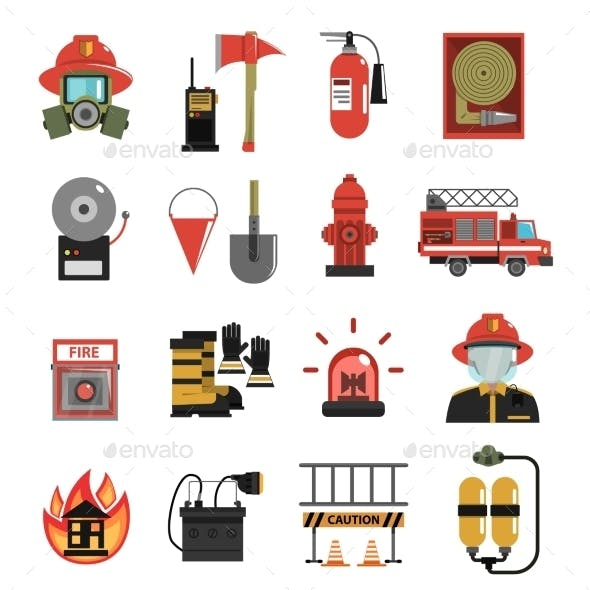 Fire Icon Flat