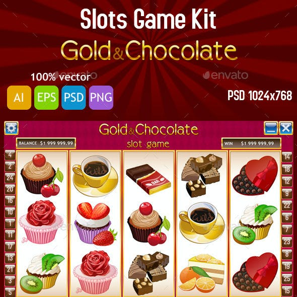 Gold and Chocolate Slot Game Kit