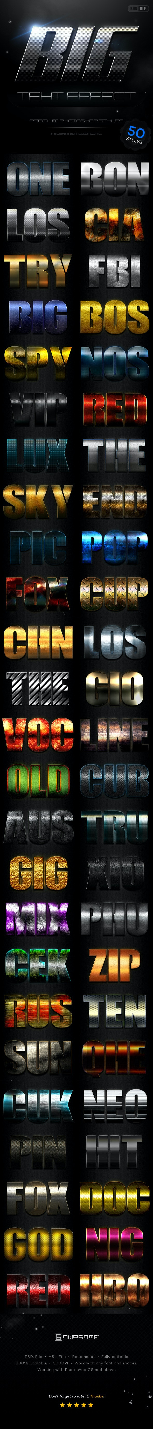 BIG Text Effect Styles Bundle - Text Effects Styles