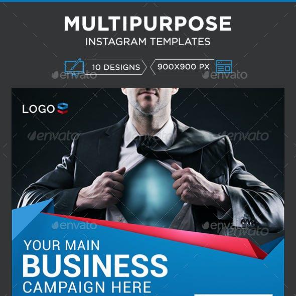 Multipurpose Instagram Templates - 10 Designs