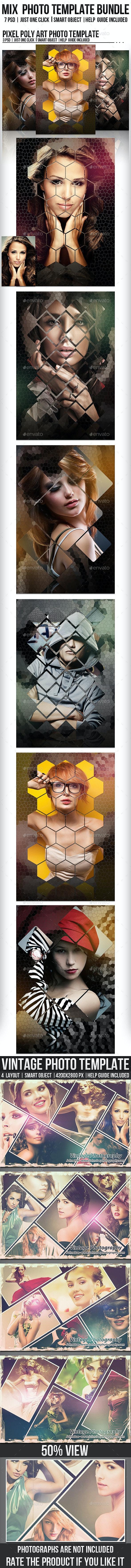 Mix Photo Template Bundle - Photo Templates Graphics