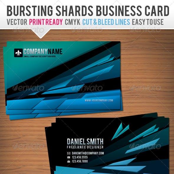 Bursting Shards Business Card