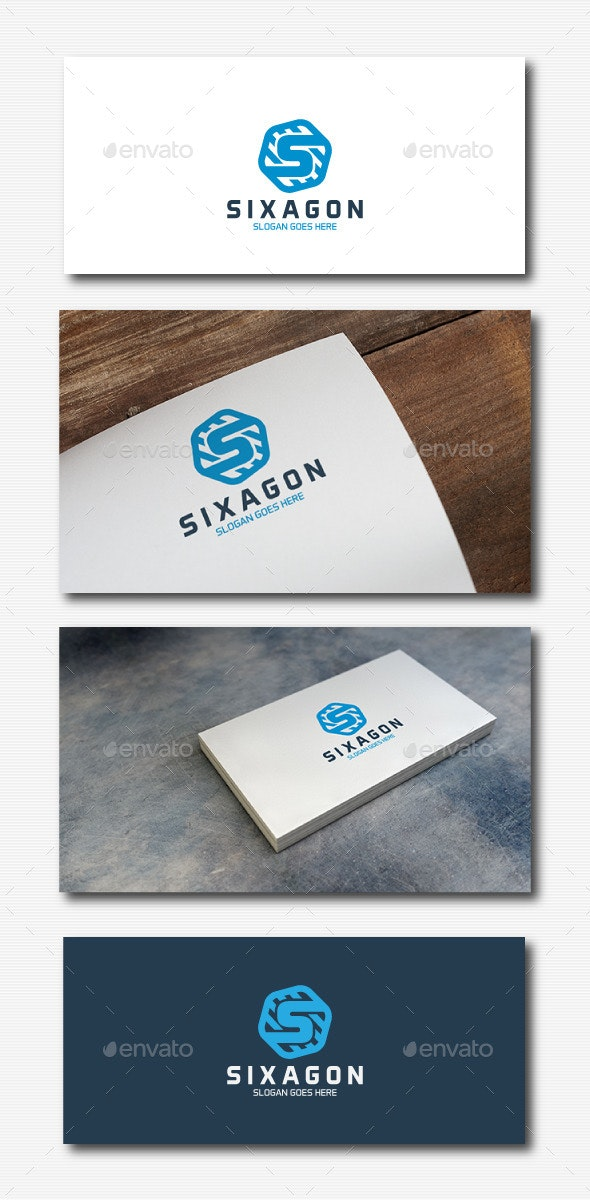 Hexagon Letter S - Letters Logo Templates