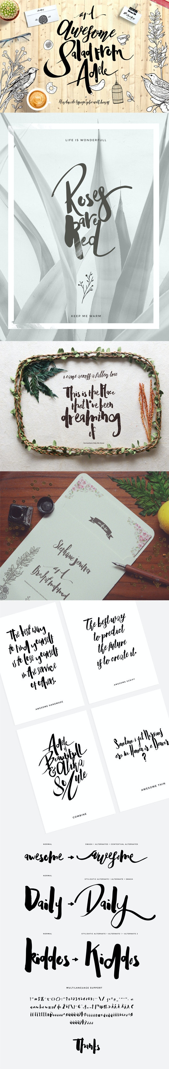 Adele Cute Typeface - Fonts