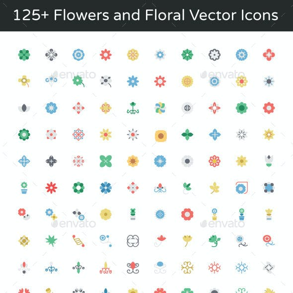 125+ Flowers and Floral Vector Icons