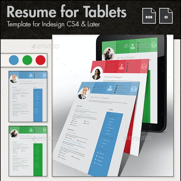 Resume Template for Tablets