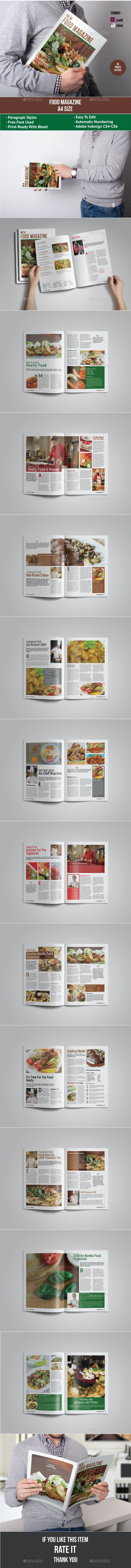 Food Magazine - Magazines Print Templates