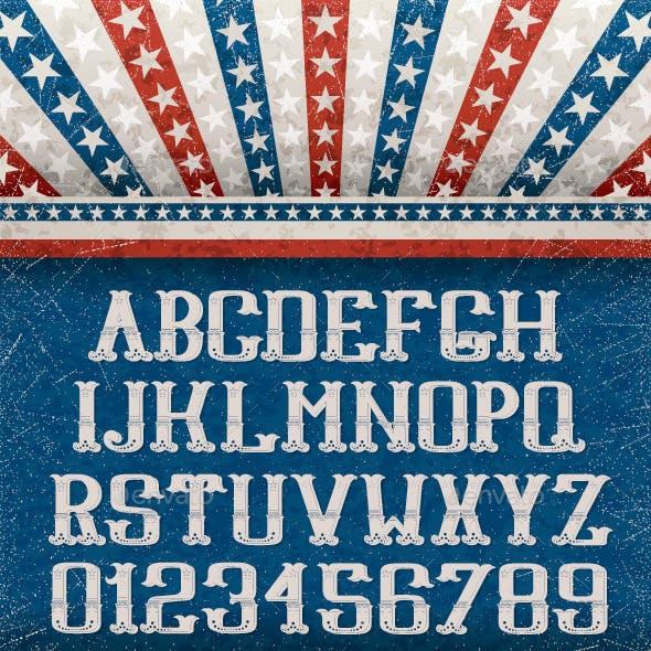 Vintage American Font
