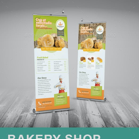 Bakery Shop Roll-Up Banner