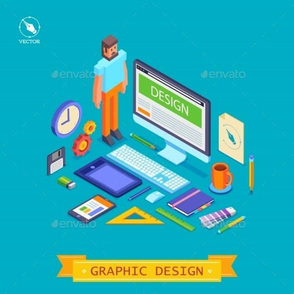 Vector Isometric  Illustration Icons Set Of