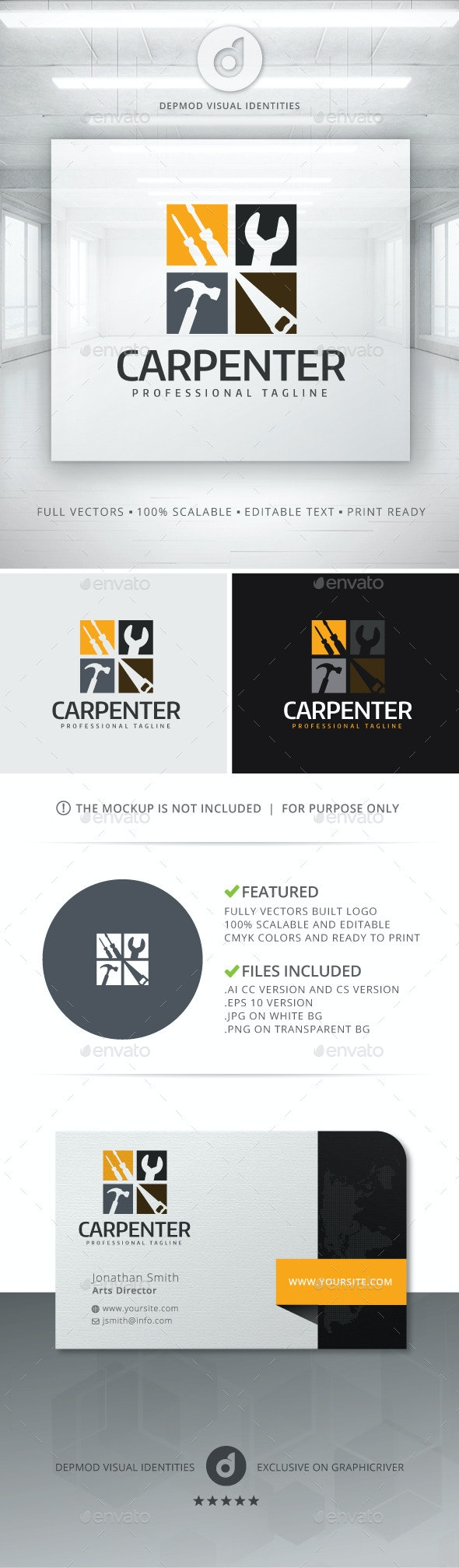 Carpenter Logo - Objects Logo Templates