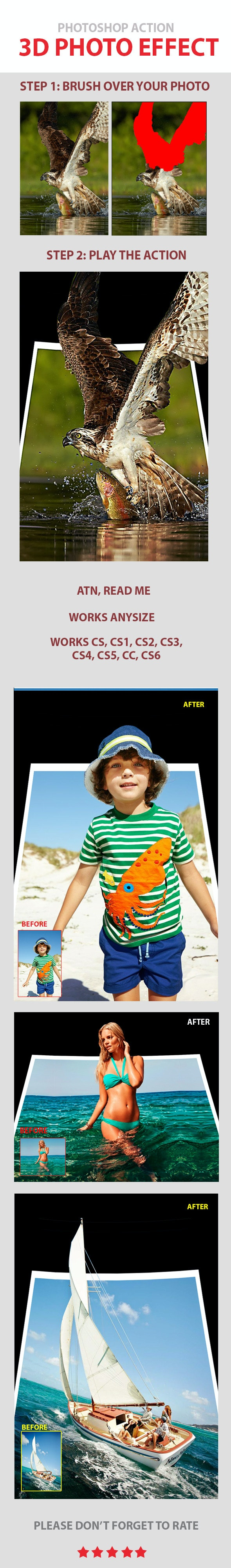 Easy 3D Pop Out PS Effect - Photo Effects Actions