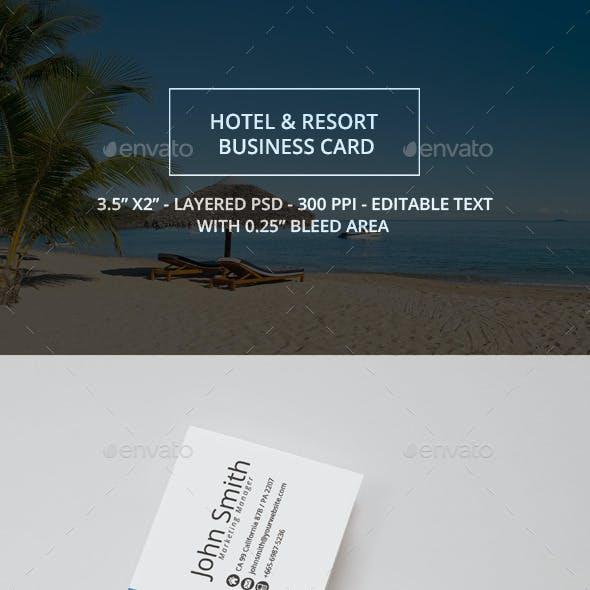 Hotel & Resort Business Card
