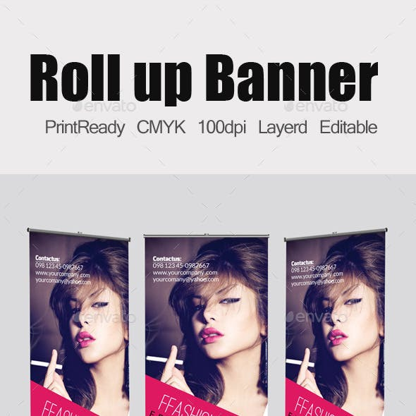 Fashion Roll Up Banners Template