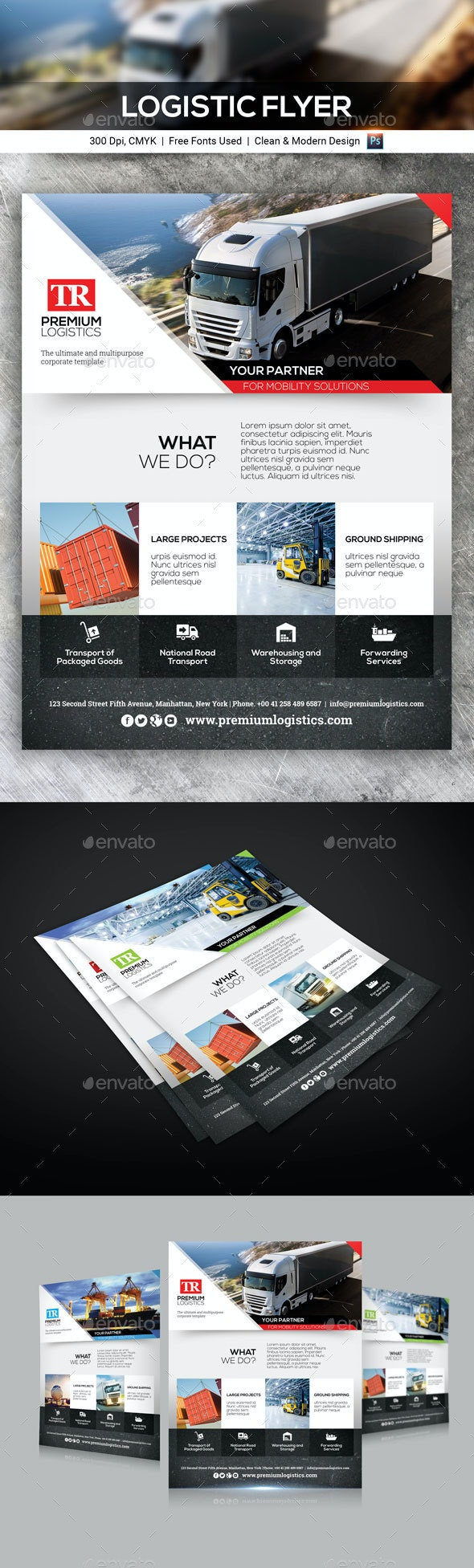 Logistic Flyer - Corporate Flyers