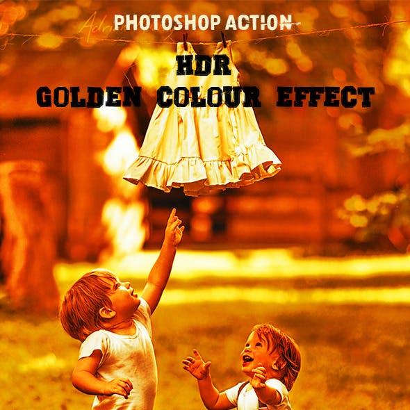 HDR Golden Colour Effect