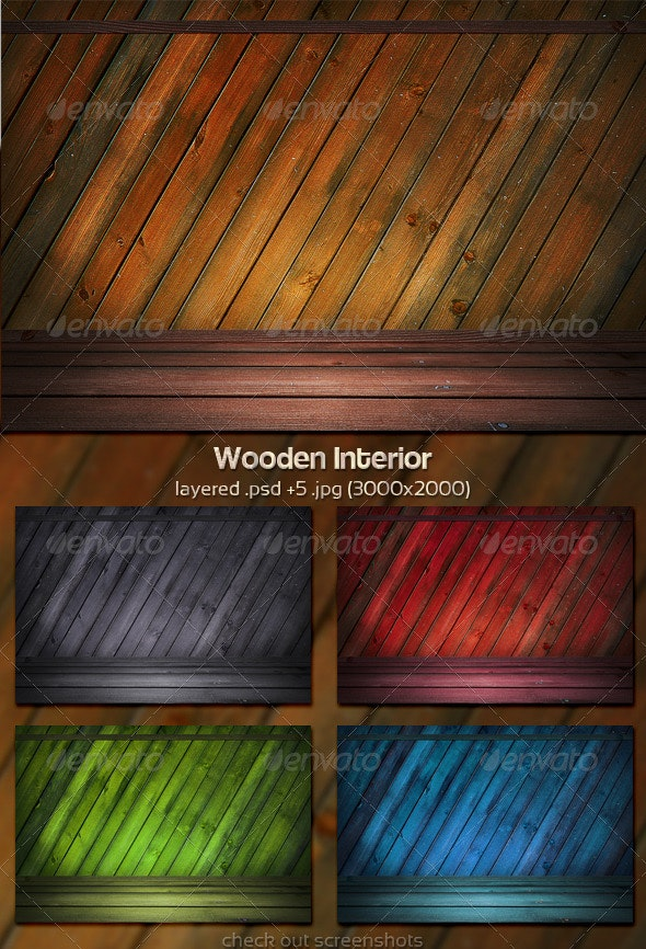 Wooden Interior - 3D Backgrounds