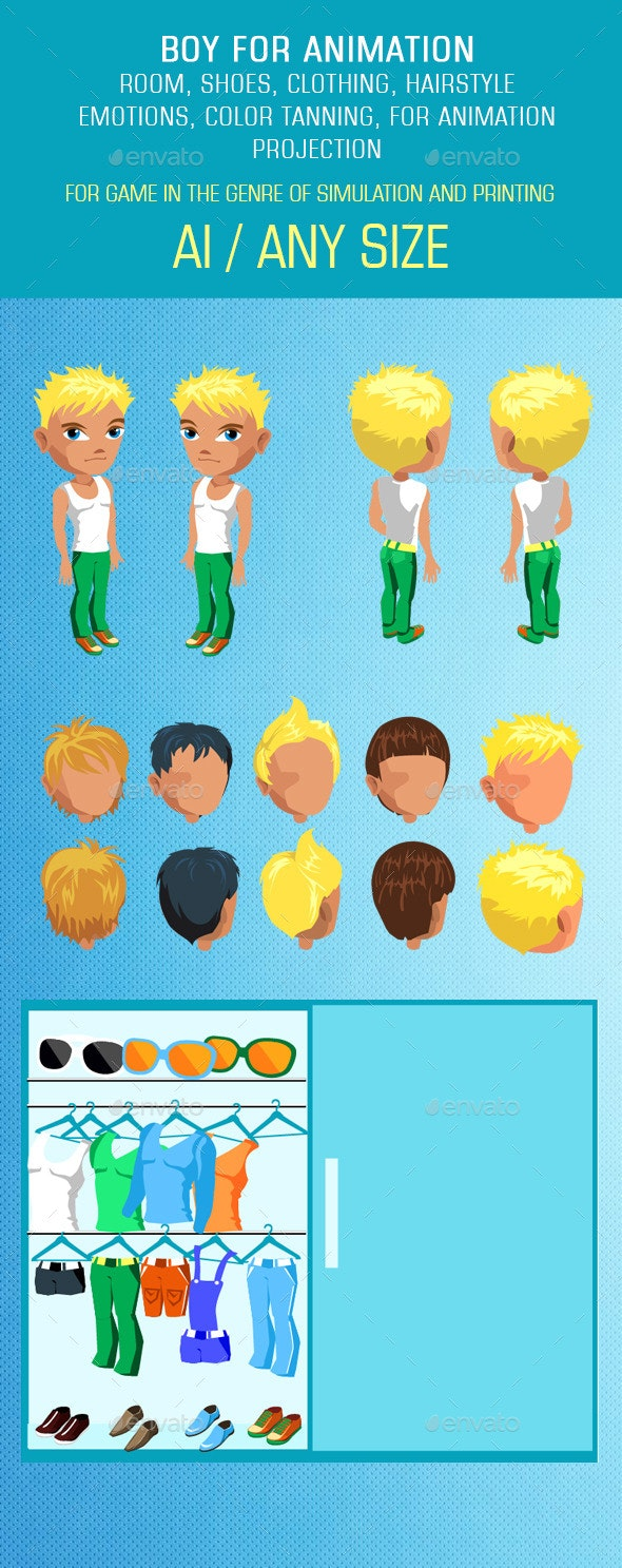 Man Mix and Match Character Pack - People Characters