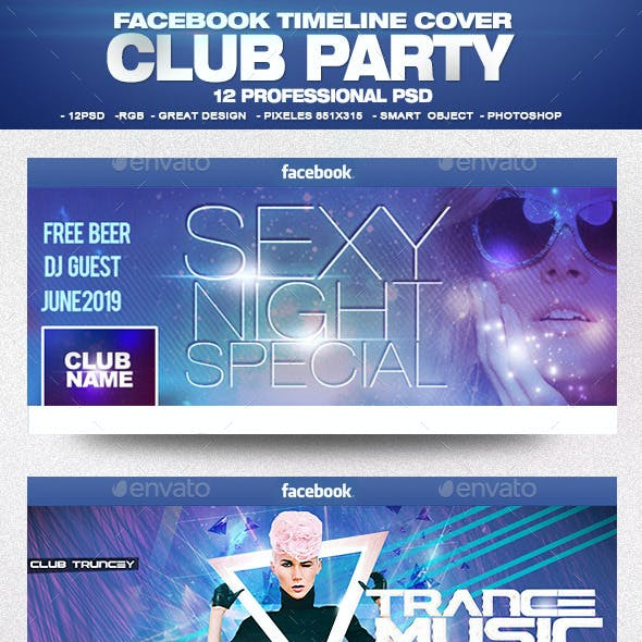 Facebook Timeline Cover Package Club Party Vol.1