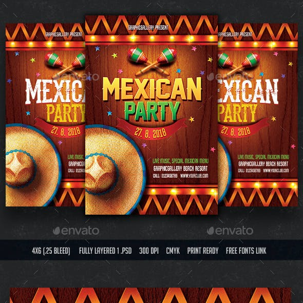 Mexican Party Flyer