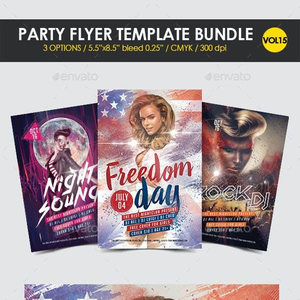 Party Flyer Template Bundle Vol. 15