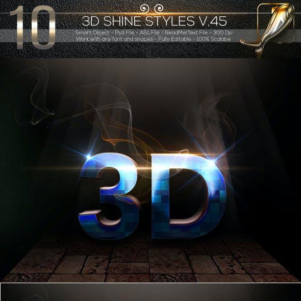 10 3D Text Styles V.45