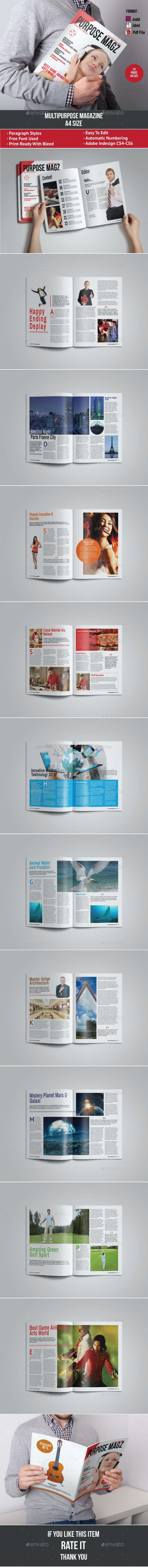 Purpose Magazine - Magazines Print Templates