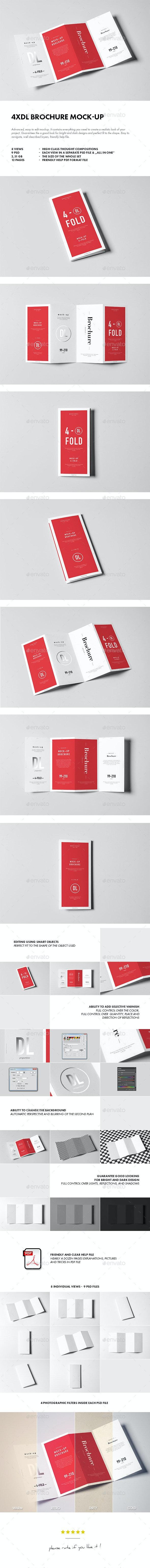 4xDL Brochure Mock-up - Brochures Print