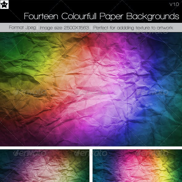 14 Colourful Paper Backgrounds