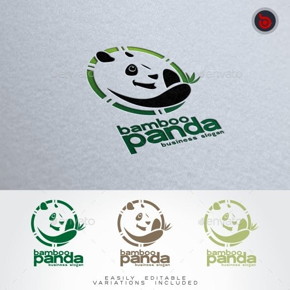 Bamboo Panda Logo Animal