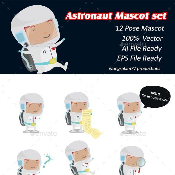 Astronaut Mascot Set