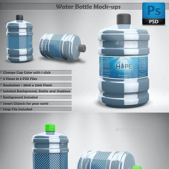 Water Bottle Mockups
