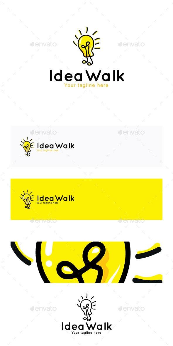 Idea Walk Stock Logo Template - Abstract Logo Templates