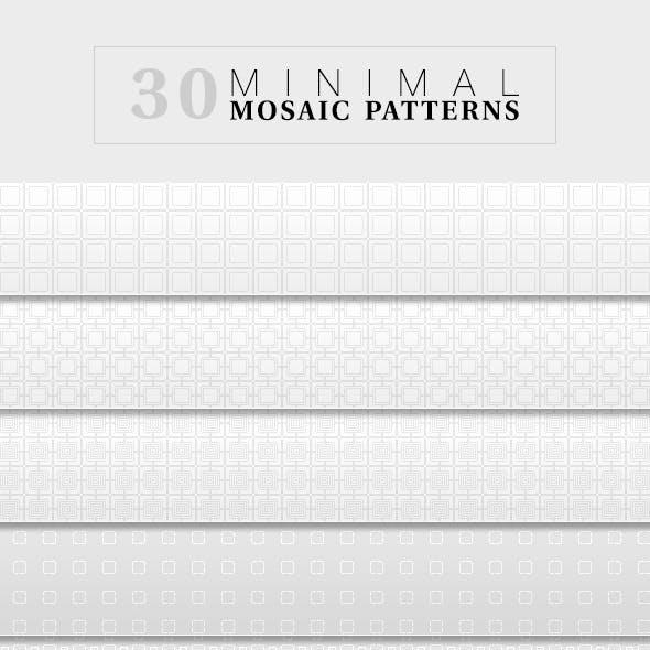 30 Mosaic Minimal Patterns