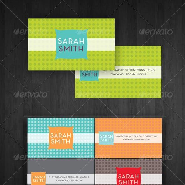 Modern Dots Business Cards