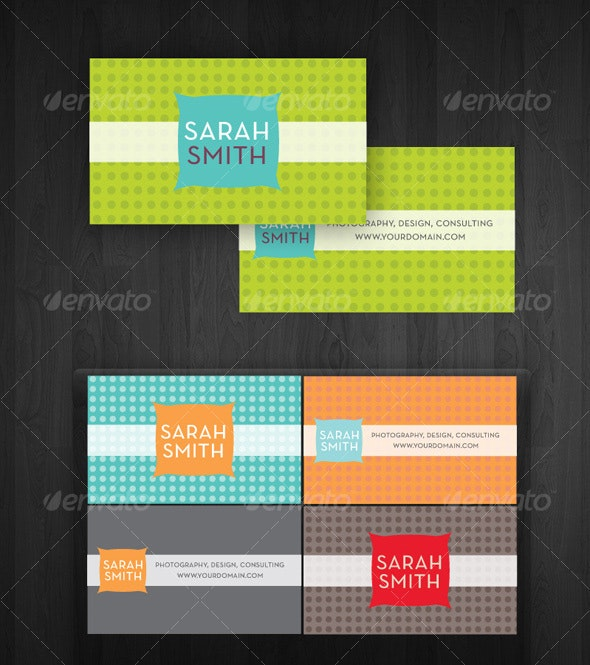 Modern Dots Business Cards - Creative Business Cards