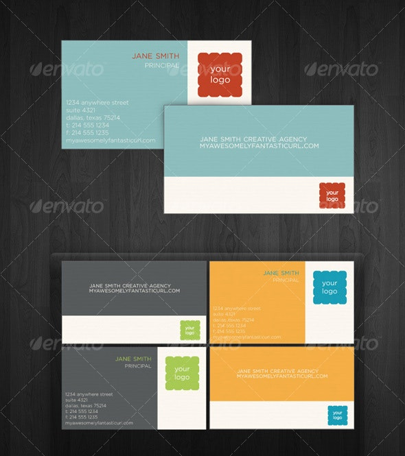 Simple Brights Business Cards - Corporate Business Cards
