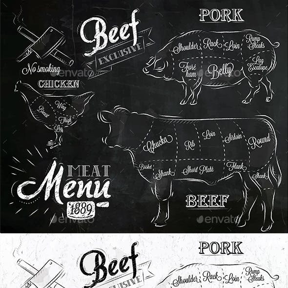 Meat Menu Icons