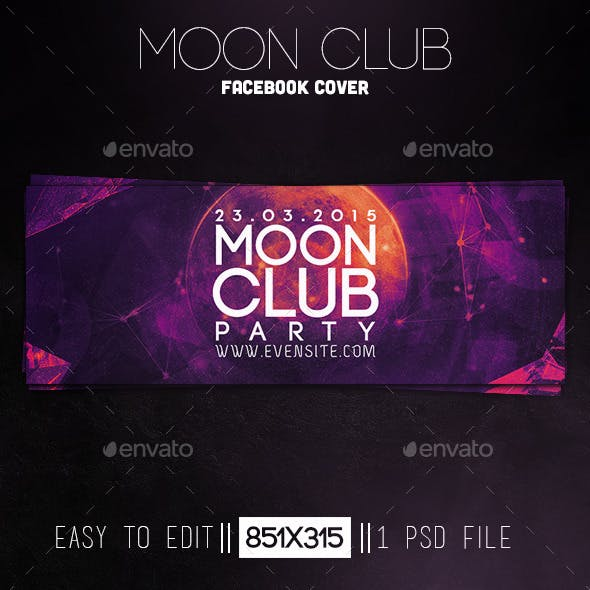 Moon Club Party Facebook Cover