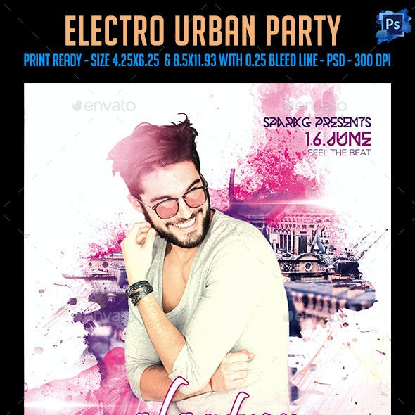 Electro Urban Party Flyer