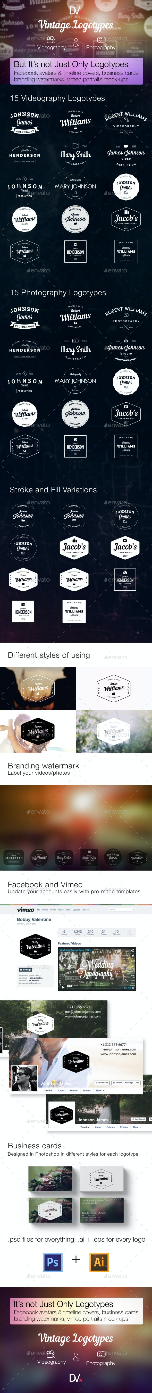Videography and Photography — Vintage Logotypes - Badges & Stickers Web Elements
